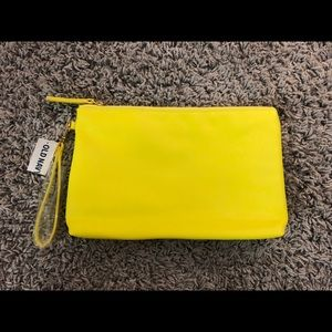 Old Navy Neon Yellow Wristlet Clutch Pouch Bag